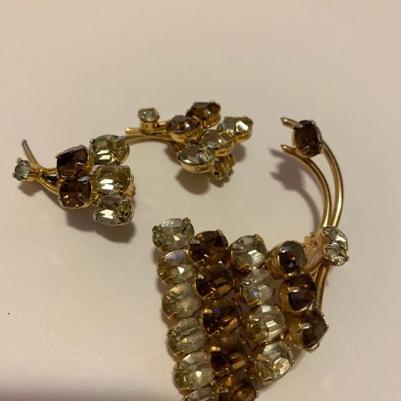 Vintage Sherman Brooch and Earrings